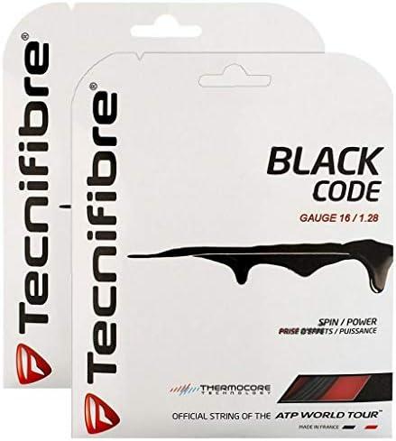 Tecnifibre 2パック ブラックコード テニスストリング - ゲージの選択