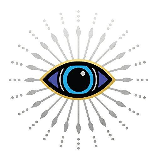 EVIL EYE Flash Tattoos variety set of 25 metallic waterproof temporary tats in gold/sliver/blue colors -