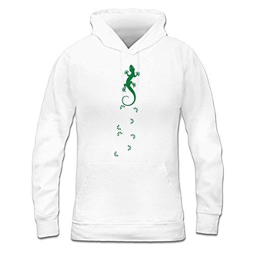 Sudadera con capucha de mujer Gecko Tracks by Shirtcity Blanco