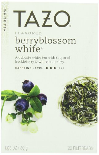 Tazo White Tea (Tazo Berryblossom White Tea, 20-Count Tea Bags (Pack of)
