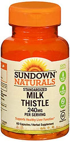Sundown Milk Thistle 240mg , 60 Capsules ea Packs of 2