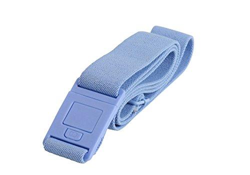 Beltaway Flat Buckle Belt-SQUARE Buckle Design, Adjustable Stretch Invisible Belt (One Size (0-14), Sky (Square Stretch Ring)