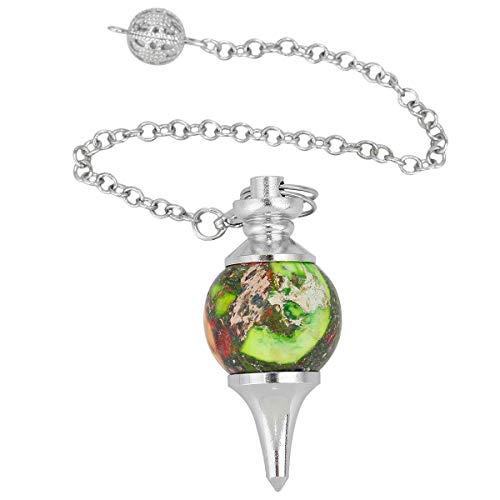 - SUNYIK Sea Sediment Jasper Stone Point Healing Dowsing Reiki Chakra Pendulum