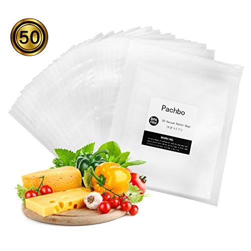 Vacuum Sealer Bags (50 pcs), Vacuum Sealer Storage Bags 9.8 x 7.7in, Commercial Grade BPA Free Vacuum food storage bags for Vacuum Sealer, Food Saver and Sous Vide