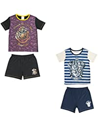 2 Pack Girls Harry Potter Pyjama Shortie Set - 5 to 12 Years