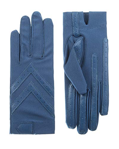 Isotoner Short Tech Touch Driving Gloves, Admiral Blue, Large/Extra Large ()