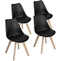 Modern Upholstered Eames Style Accent Dining Chairs...
