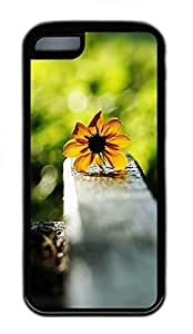 for iphone 5c Case nature flower colorful TPU for iphone 5c Case Cover Black