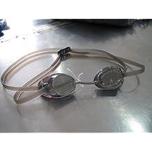 Swedish Silver Mirror Black Framed Swim Goggles