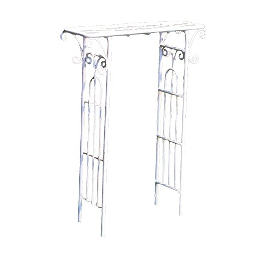 Provence AF2630 Iron Mini Fairy Garden Arbour, Cream by Provence