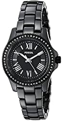 Fossil Women's CE1091 Cecile Three-Hand Black Ceramic Watch