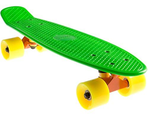 SportPlus EZY! Mini-Cruiser, 56 cm, Retro Skateboard, ABEC 5, Sicherheit geprüft nach EN 13613