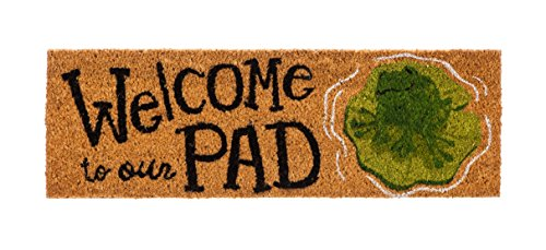 - Evergreen Kensington Welcome to Our Pad Natural Coir Interchangeable Switch Mat - 28.25