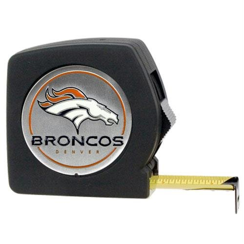 Denver Broncos NFL 25' Black Tape Measure by Great American Products