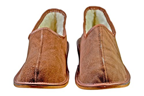Reindeer Leather, Darren Wildleder Schafwolle Schuhe Hausschuhe