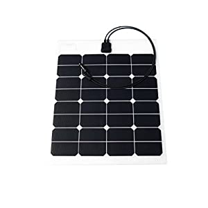 CHANVE-50W-18V-Sunpower-ETFE-fabric-laminated-Semi-Flexible-Solar-Panel-for-BoatYachtRoof-Power-GenerationMotorhomeCaravanCampervanRVLorryTrailerOff-grid-Solar-Power-System-and-more