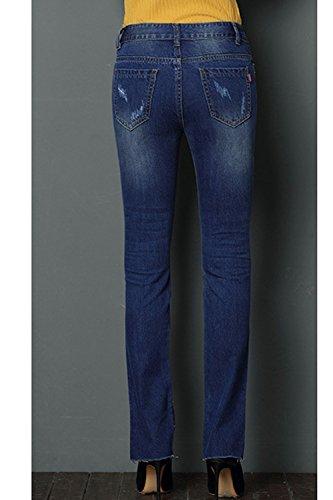 Blu Split Donne Mosaico Elasticizzati Angosciato Simgahuva Juniors Pantaloni Jeans X8qwxTxv