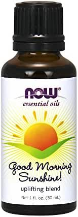 NOW Foods Morning Sunshine Essential Oil Blend, Citrus with A Slightly Spicy Undertone, 1 Ounce