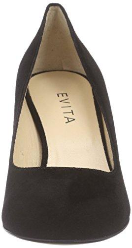 Evita Shoes Pump - Tacones Mujer Negro - Schwarz (schwarz 10)