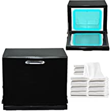 Black Compact 2-in-1 Towel Warmer & Ultraviolet Sterilizer Cabinet with 12 Facial Towels