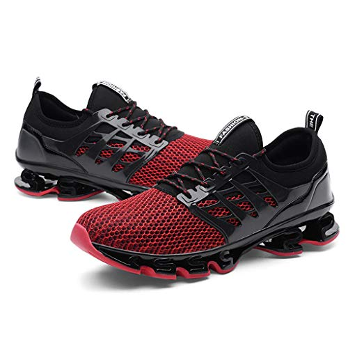 Lloopyting Couples Solid Color Casual Mesh Breathable Wear Running Shoes Outdoor Fashion Wild Mesh Sneakers Red by Lloopyting (Image #1)