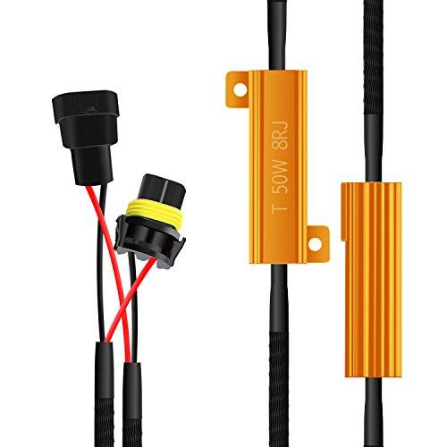 Win Power HID LED Load Resistor H8 H9 H11 Canbus Free Error Canceller Harness Decoder-Fix LED Bulb Fast Hyper Flash(2 Pcsfor Dodge(2007-Current) RAM JEEP CHRYSLER Mini Copper BMW BENZ