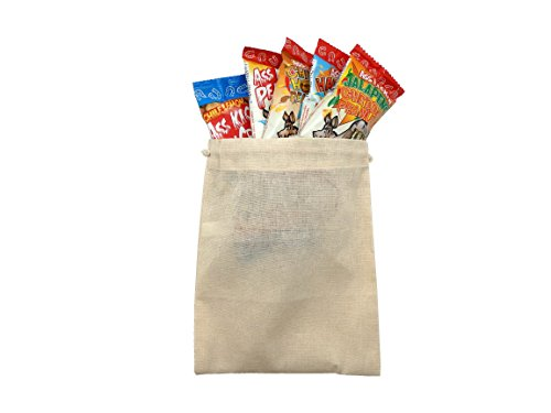 Spicy Hot Nut Sack Gourmet Snacks in Burlap Gift Bag