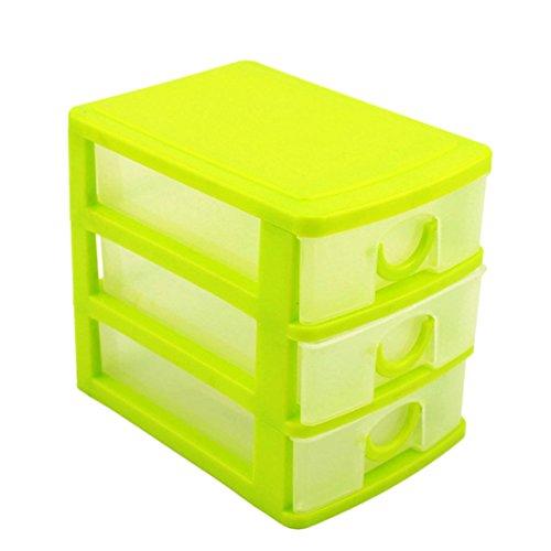 haoun 3-Tier Mini Desktop Organizer Drawer Type Storage Box - Pink - Tier Plastic Desktop Three