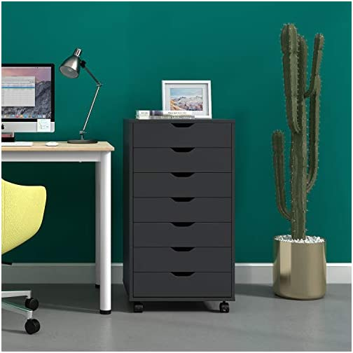 DEVAISE 7-Drawer Mobile Cabinet for Office & Closet