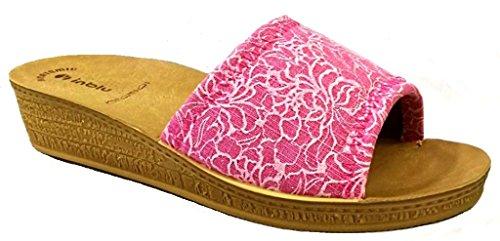 Donna Fuxia MOD DI Linea INBLU Pantofole Aperte 47 Benessere Ciabatte q7xwtAw4