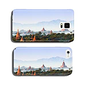 Panorama the Temples of bagan at sunrise, Bagan, Myanmar cell phone cover case iPhone6