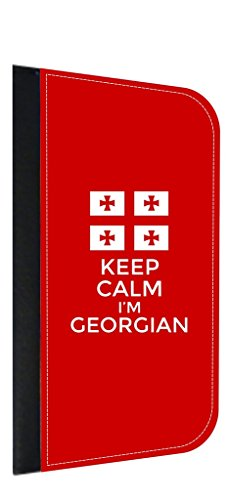 Keep Calm I'm Georgian Apple iPhone 6, 6s Wallet Case with Closing Flip Cover and Credit Card Slots Made in the - Georgia In Atlanta Outlets