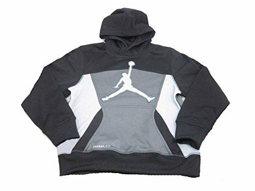 Nike Boys Youth Air Jordan Therma-Fit Hoodie (S (8-10 Years), Black/Dark - Jacket Air Jordan Hoody