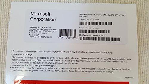 Microsoft Windows Server 2012 R2 Datacenter – Licentie en media – 2 processors – OEM – DVD – 64-bit – Engels (P71-07714)