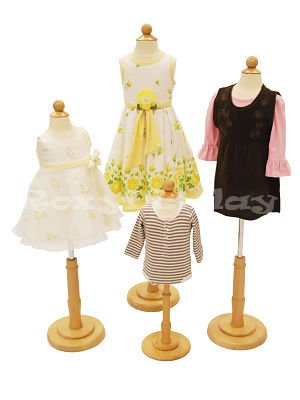 Children Body Dress Form Mannequin - 4 Units (6 Months,1-2 Years,3-4 Years,6-8 Years)