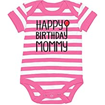 Tstars Happy Birthday Mommy Cute Boy/Girl Infant Mom's Gift Baby Bodysuit