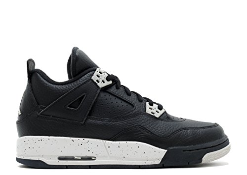 Nike Air Jordan 4 Retro BG Scarpe da Sportive, Bambino Black, Tech Grey-black