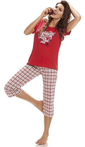 Cornette Donna Bloom Pigiama Rosso CR 624 wSB4qn8w