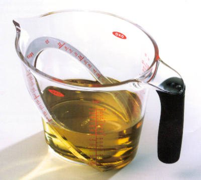 OXO International 1050030 Good Grips Measuring Cup, Angled, Plastic, 4-Cups - Quantity 6