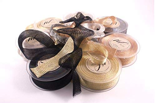 10m Ultra Fine Knitted Tarnish Resistant Artistic Craft Copper Wire Mesh Ribbon for Wrapping, Wedding Floral Designs, Accessories, Jewelry Making DIY kit (Set of 2 spools of 5 Meters Mesh) (Hematite) by Wire Fancy (Image #4)