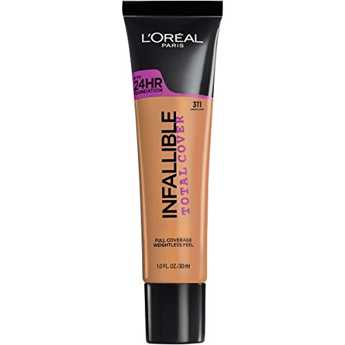 L'Oréal Paris Infallible Total Cover Foundation, Creme Cafe, 1 fl. oz. ()