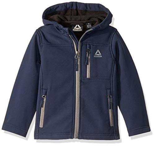 Reebok Boys' Toddler Active Super Soft Shell Jacket, Classic Navy, 2T
