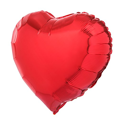 18 inch Red Heart Shaped Foil Mylar Balloons Helium Balloon Birthday Party Supplies Wedding Decoration, 50pc (18 Inch Birthday Hearts)