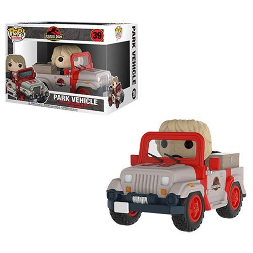 Pop Vinyl Jurassic Park Jeep with Ellie Sattler Vehicle