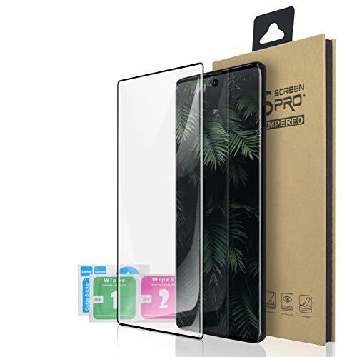 Galaxy Note 10+ Plus/5G Screen Protector, [HD Clear] [Bubble-Free] [Anti-Scratch] [Case Friendly] Tempered Glass Film for Samsung Galaxy Note 10+ Plus,1 Pack