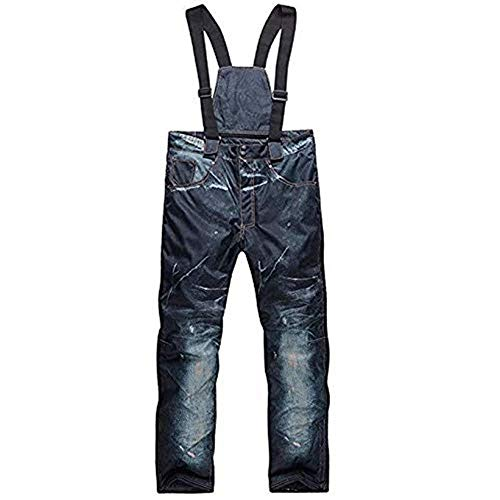 (Z&X Mens Warm Thicken Snowboarding Pants Jeans Cowboy Insulated Ski Snow)
