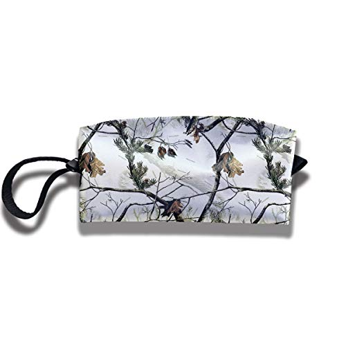 Cosmetic Bags With Zipper Makeup Bag White Realtree Camo Middle Wallet Hangbag Wristlet Holder]()