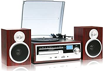 TechPlay ODC28SPK WD 3 Speed Turntable With CD / MP3 / Cassette / SD