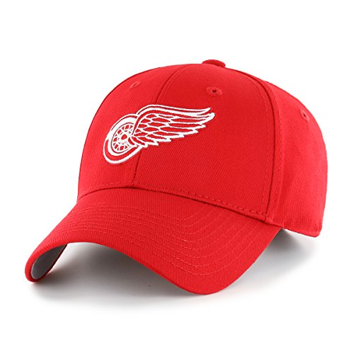 Hockey Hat Detroit Red Wings (OTS NHL Detroit Red Wings All-Star MVP Adjustable Hat, Red, One Size)