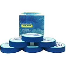 KIWIHUB Painter's Tape, 6 Roll 1 inch 54yd Painting Tape, Clean Release Trim Edge Finishing Blue Paint Tape, No Bleeding and No Residue Left Behind